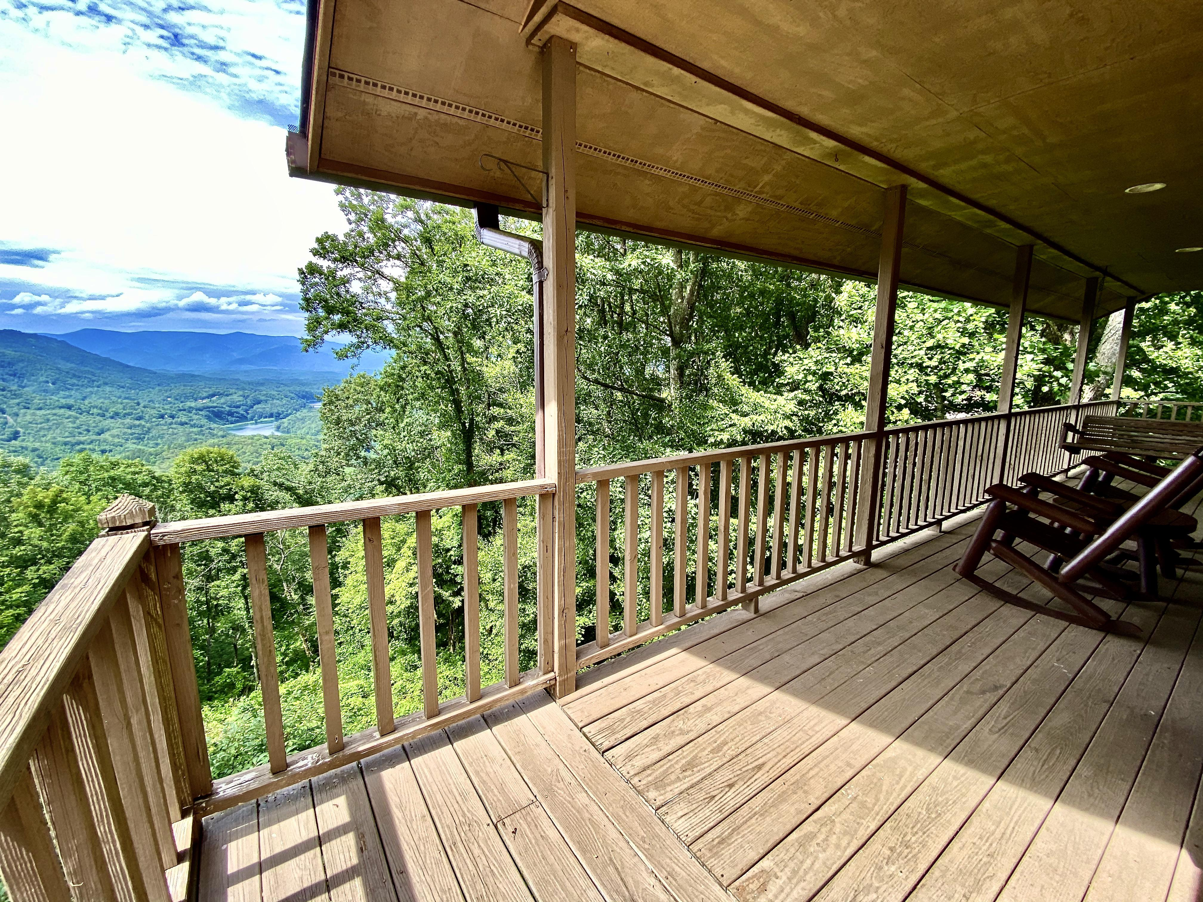 Spacious Covered Deck is the ideal place to relax and enjoy the View...