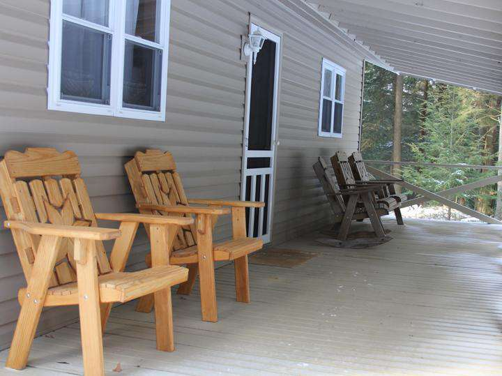 Porch on Front of Cabin