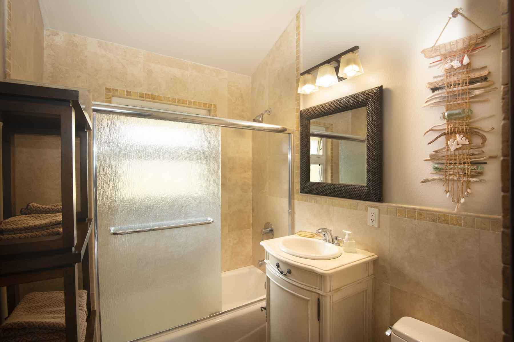 Bathroom #2 with tub & shower.