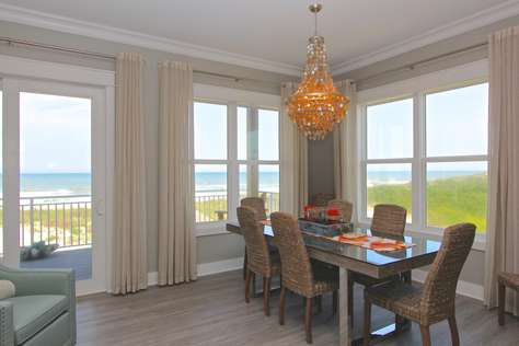 Gulf from dining room with deck access