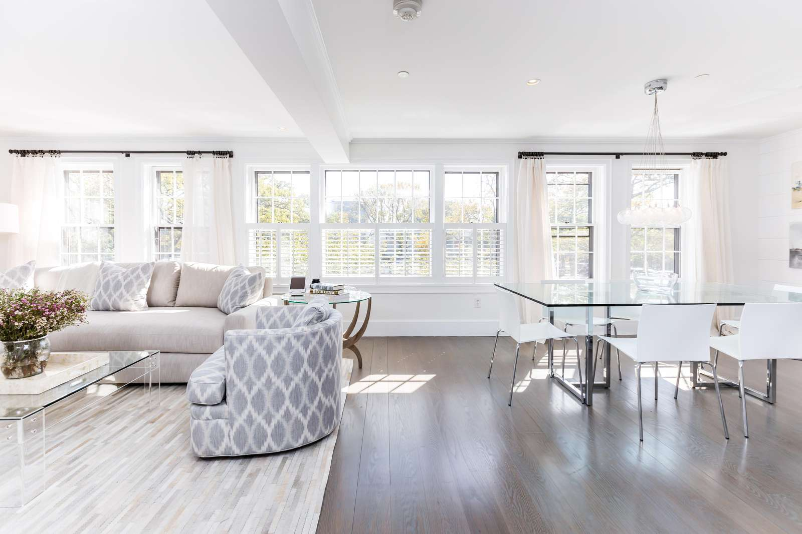 Open dining room, living room