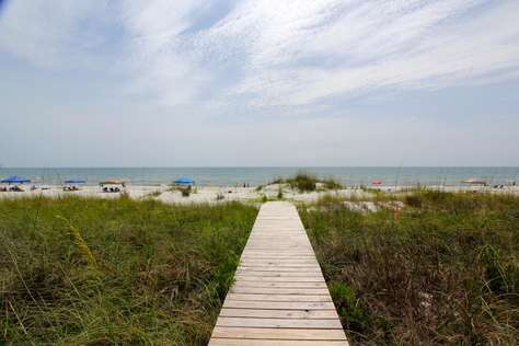 Private boardwalk to gulf