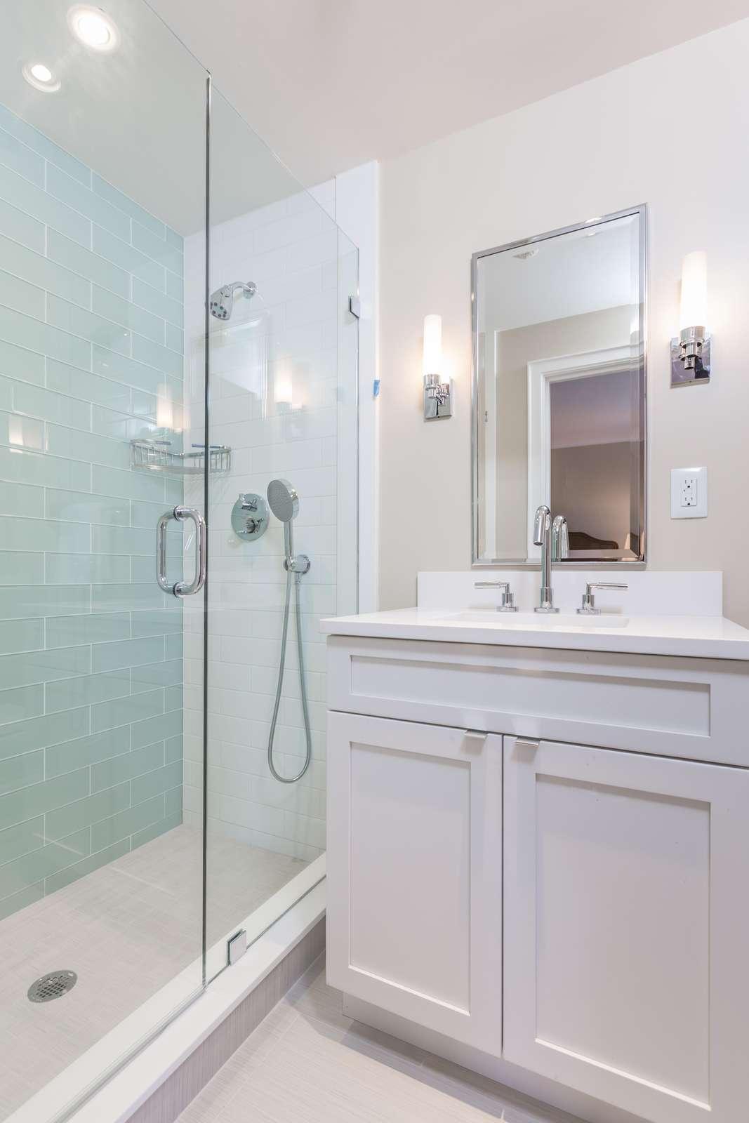 On suite bathroom in 2nd bedroom of 2 bedroom apartment