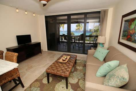 Living Room with awesome beach/ocean view!