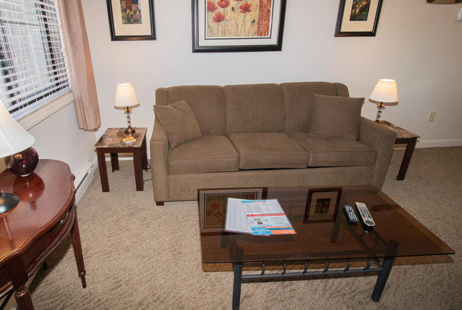 Fold-out couch in living area sleeps two (2) guests