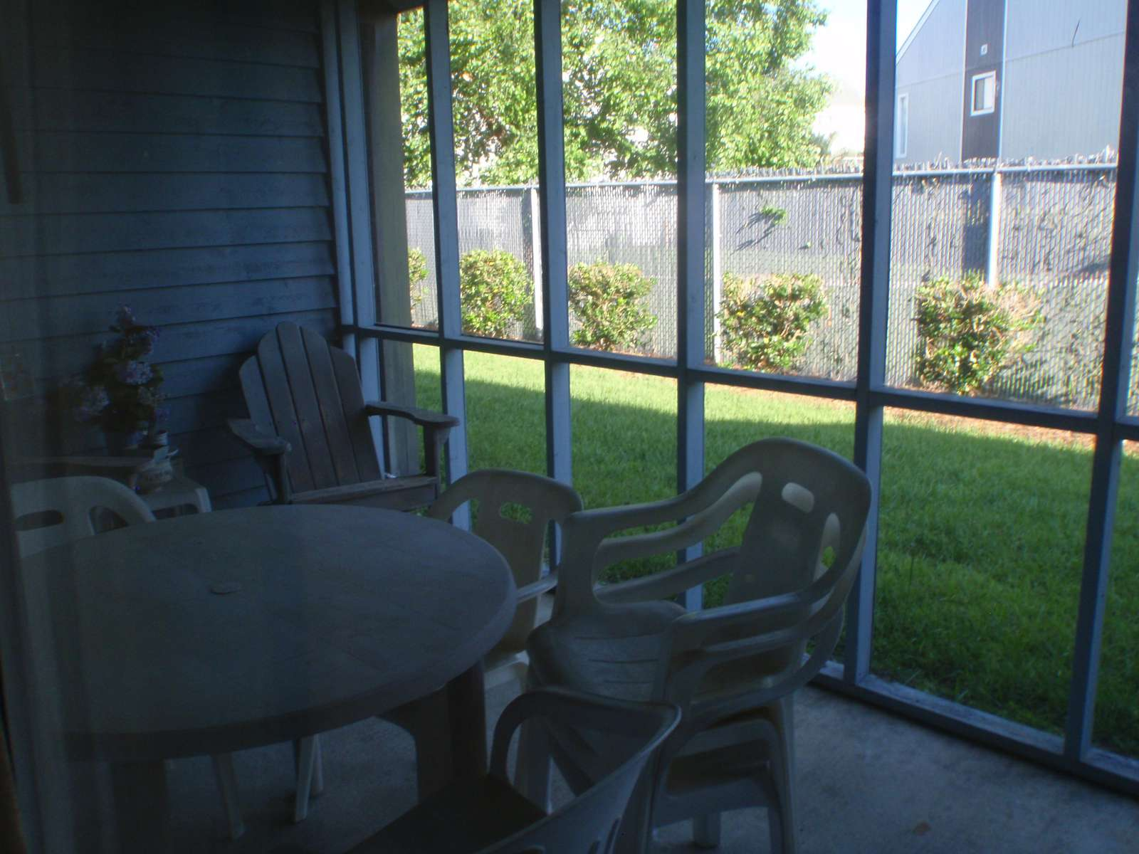 Screened in Patio Area