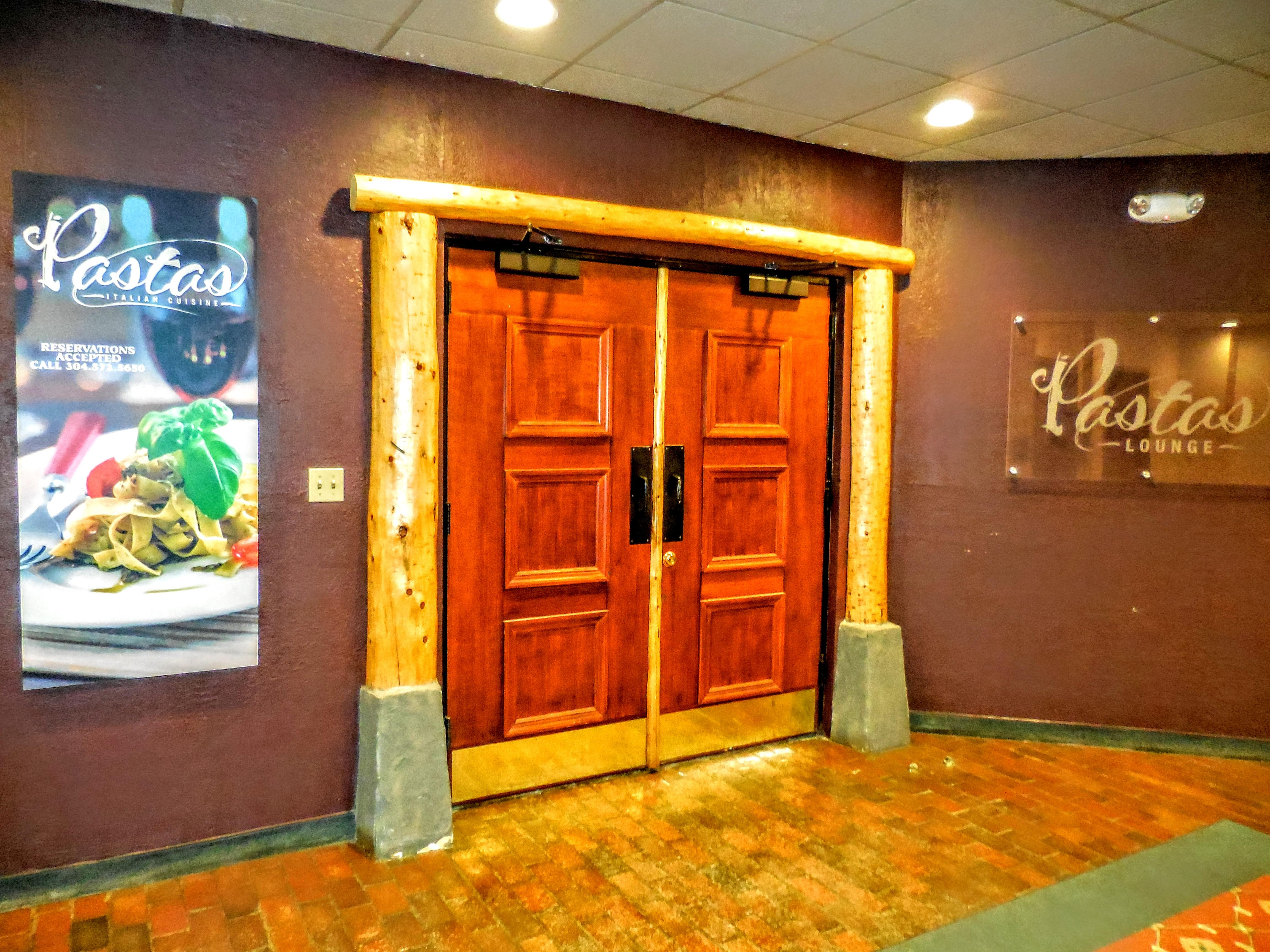 Pasta's Italian restaurant & lounge is located in the lower level of our building (winter)