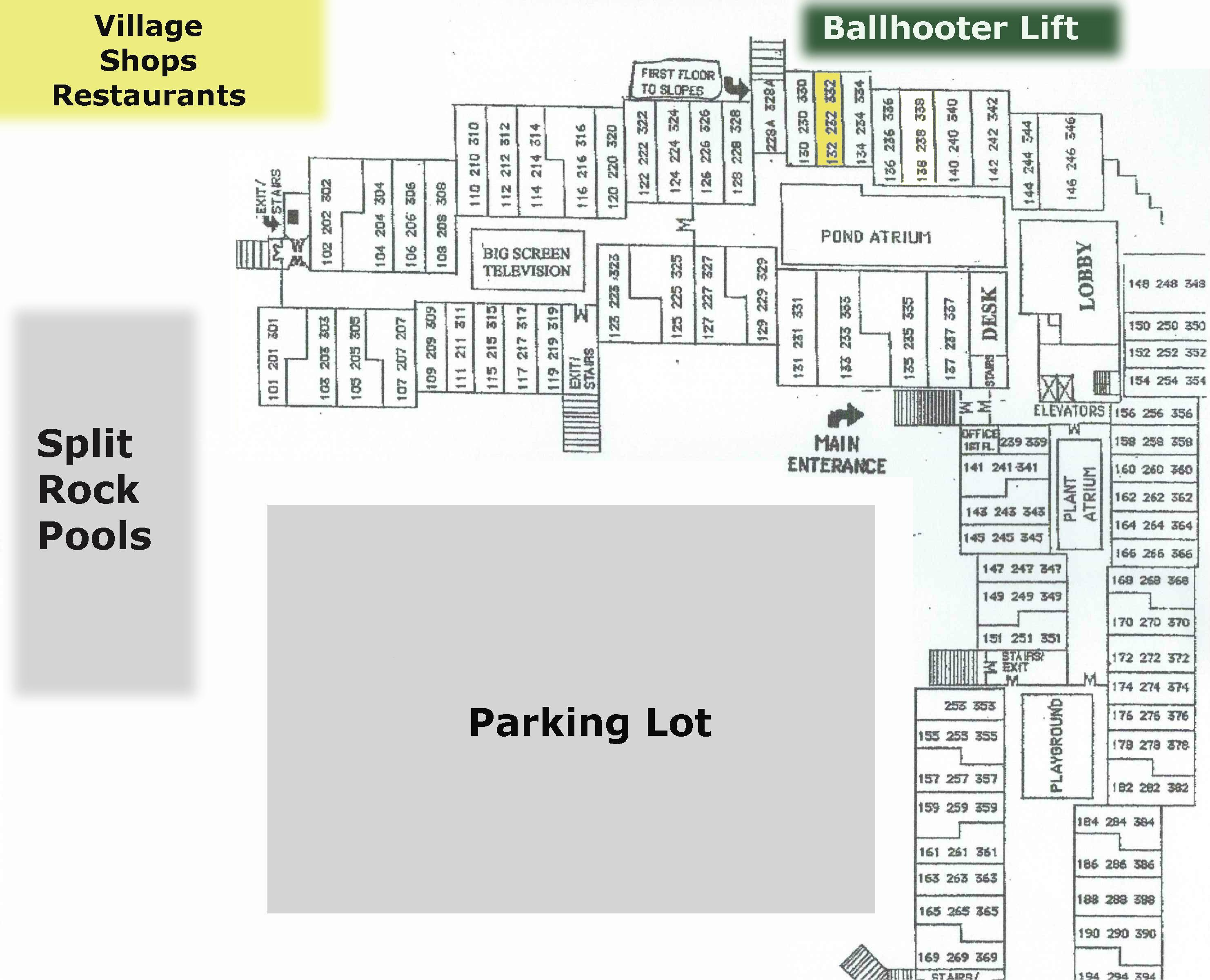 ML332 balcony faces Ballhooter Lift!