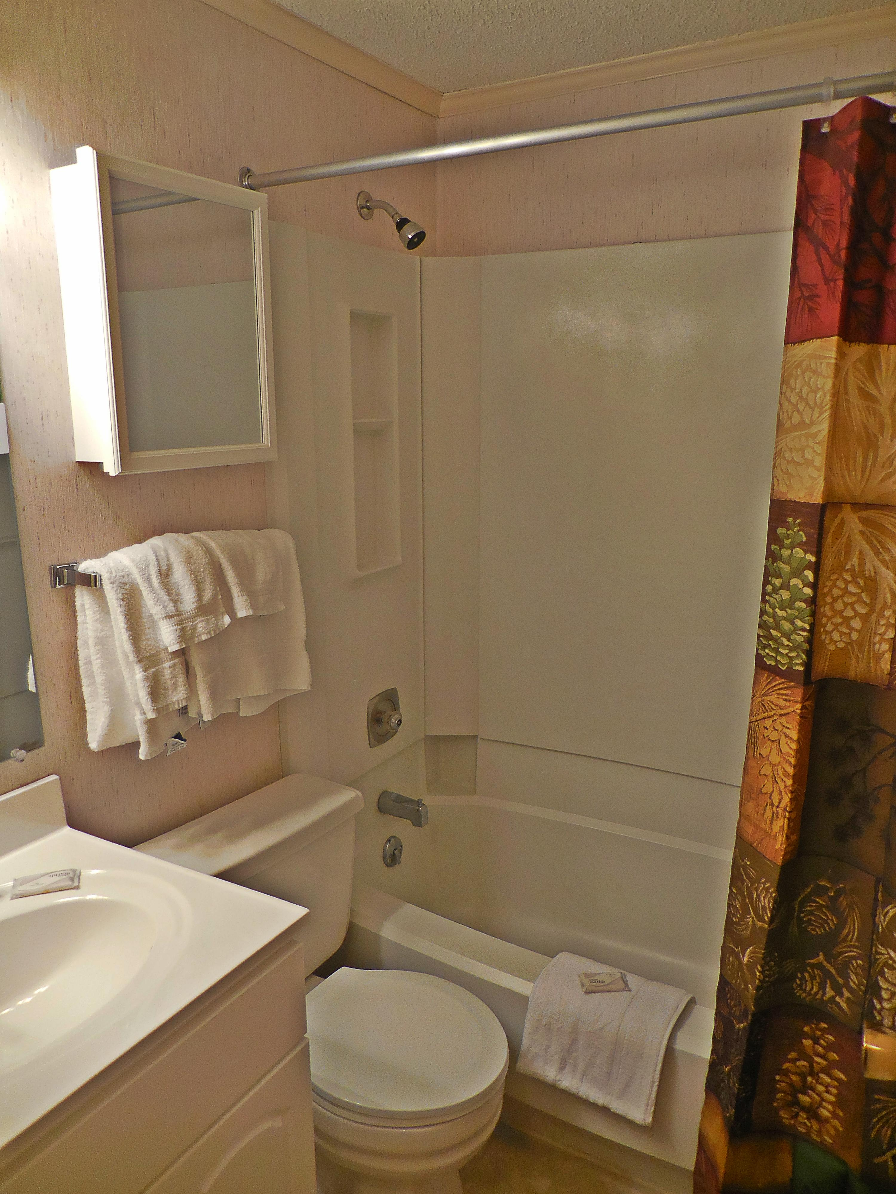 Full bathroom with tub and shower - CLEAN!