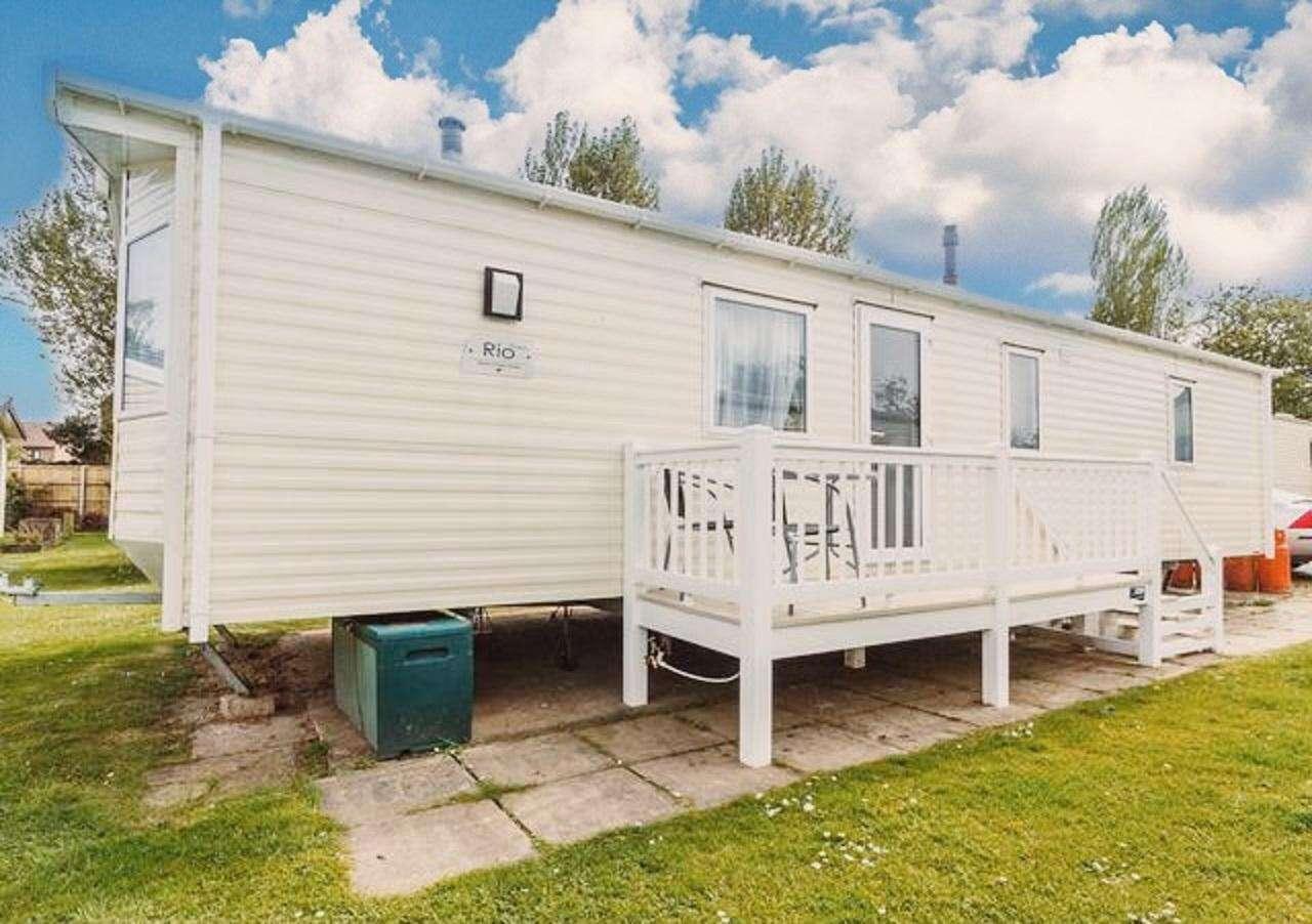 6 berth accommodation at Hopton Holiday Village.