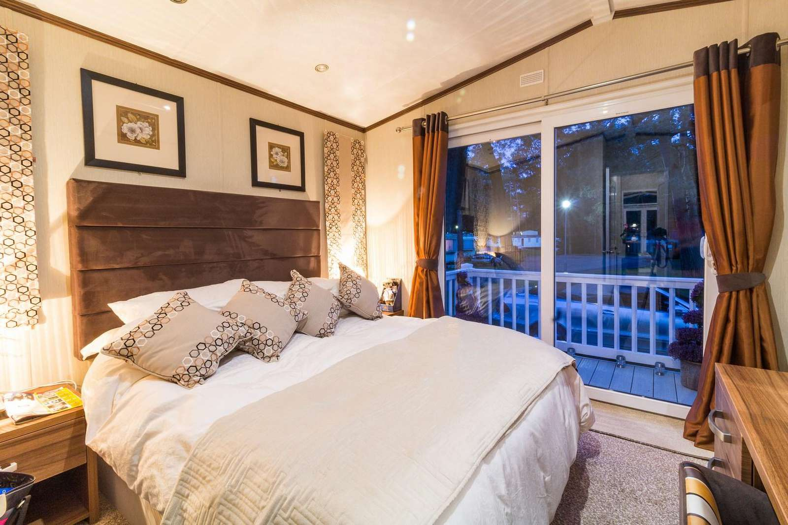 Come and stay in this luxury king size bed at the Haven Wild Duck Holiday Park.