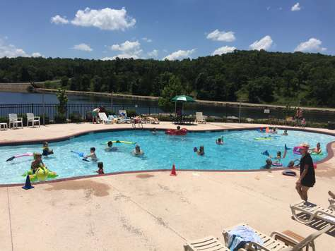 Large swimming pool at Forrest Lake