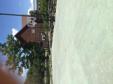 Basketball court at Forrest Lake