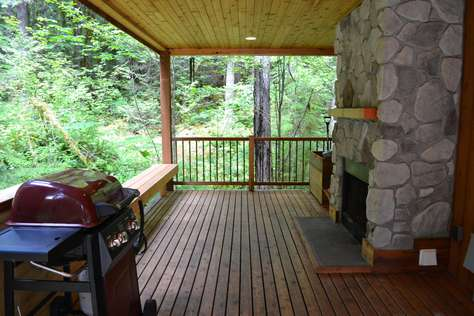 BBQ under Covered Deck
