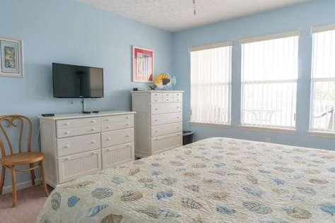 TV area in bedroom one