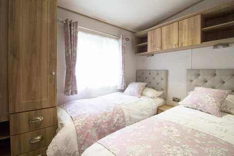 twin room at Hopton Holiday Village near Great yarmouth Norfolk
