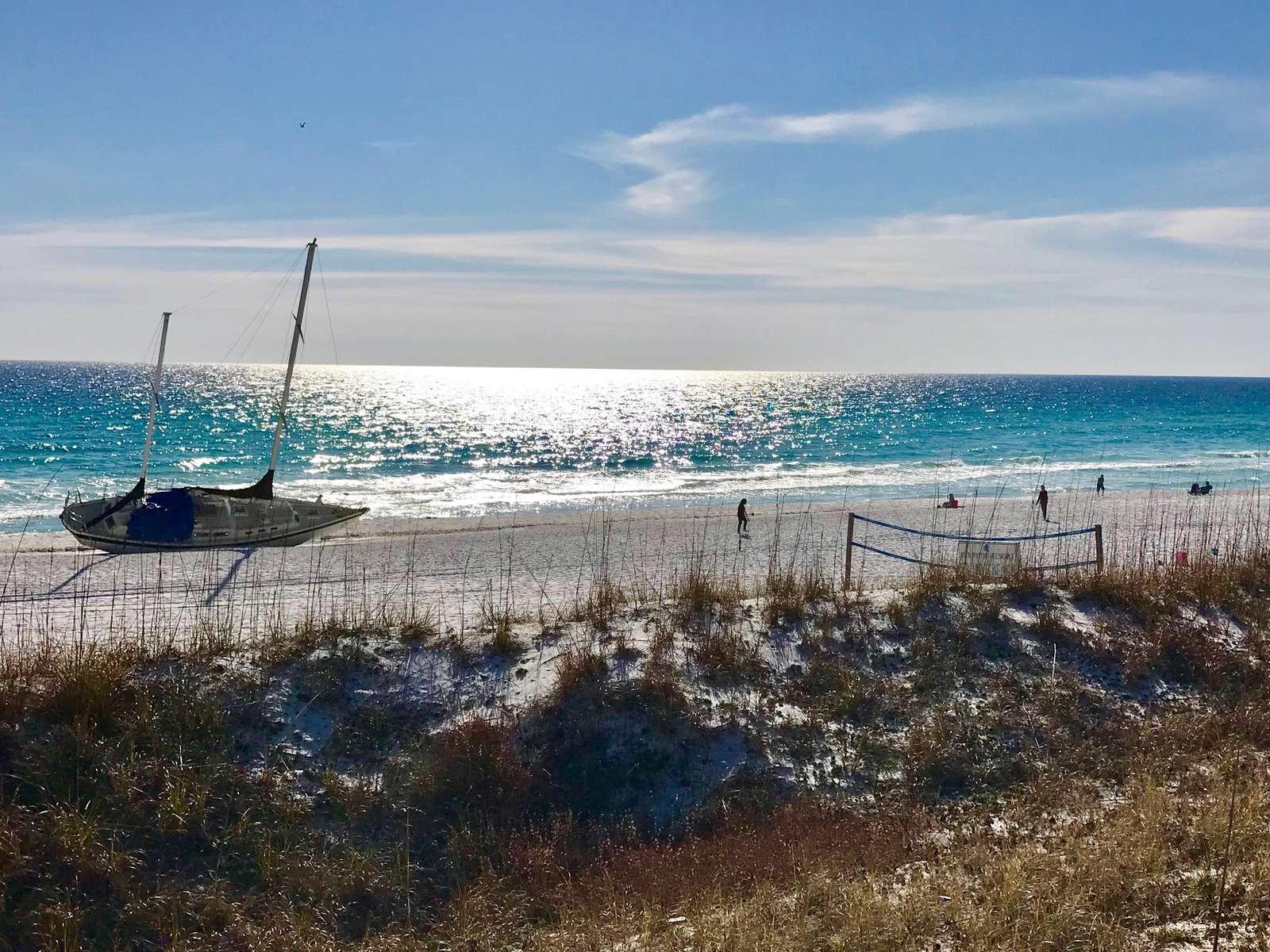 Surfside's private beach
