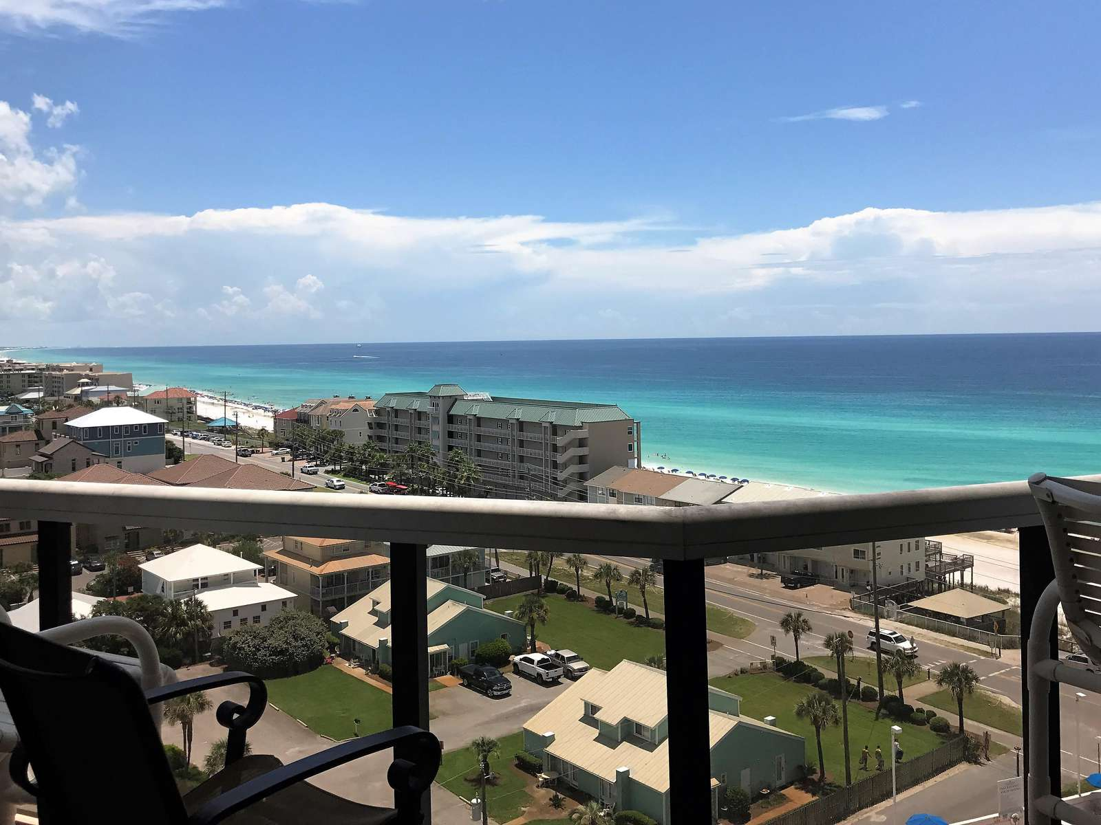 The gorgeous waters of the Gulf from our balcony!