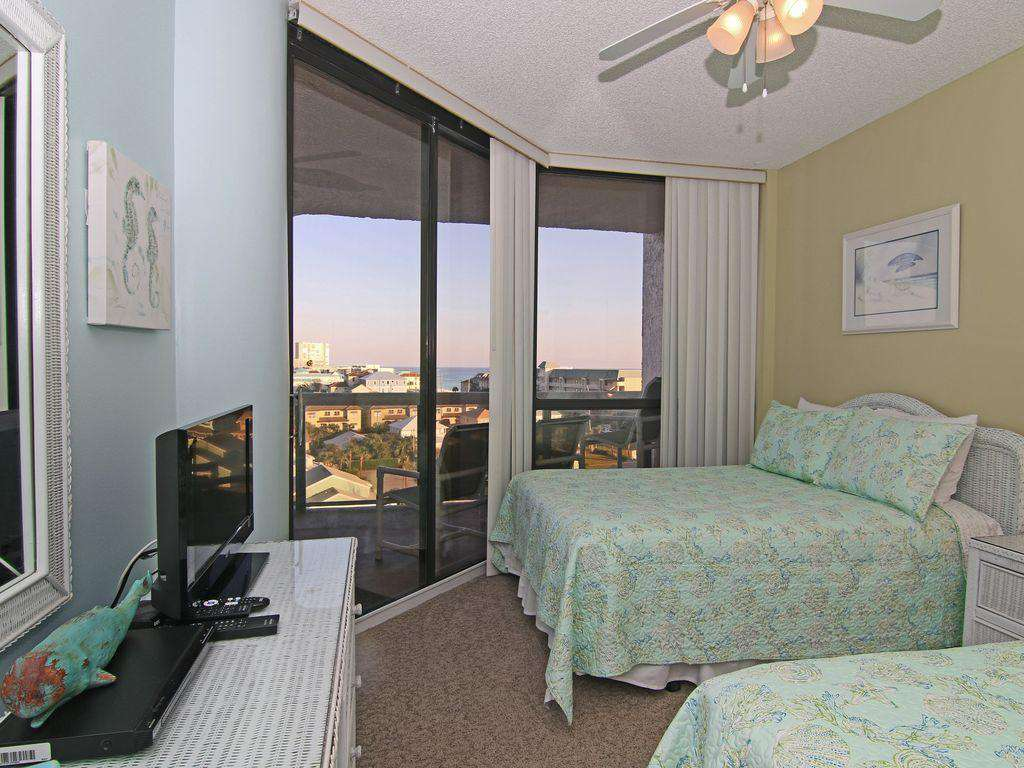 The second bedroom also has balcony access.