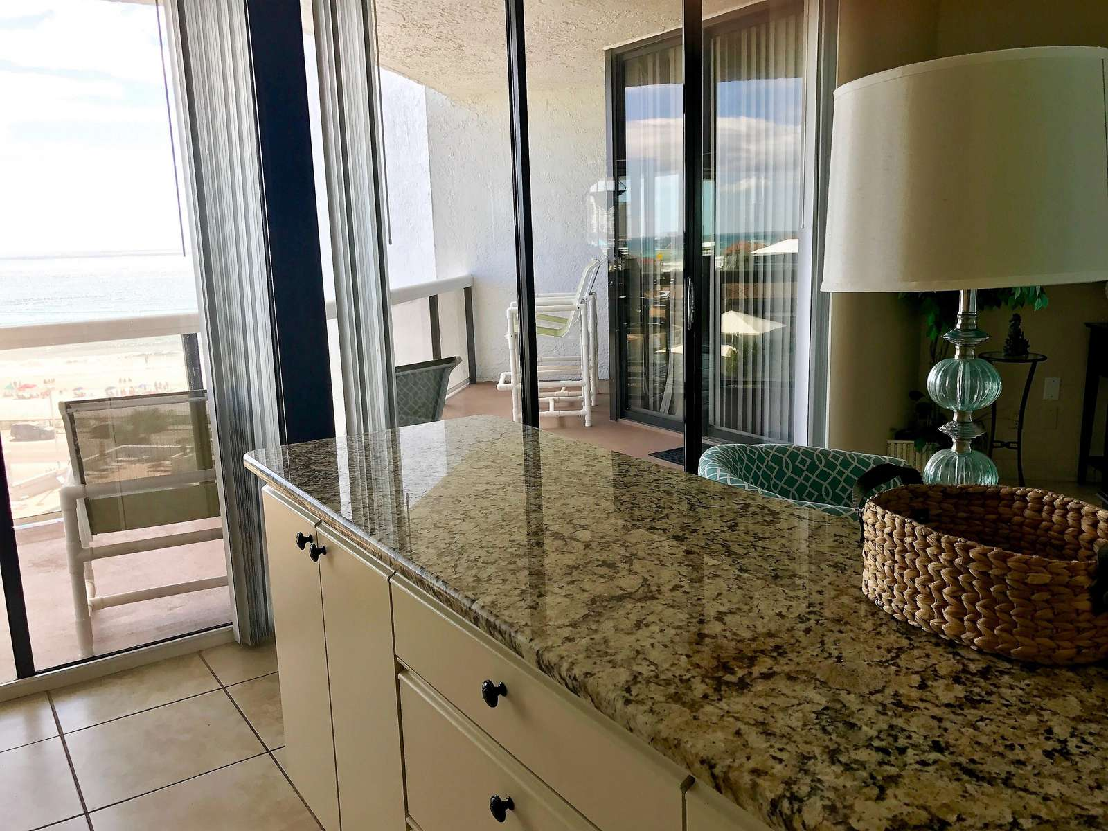 Beautiful granite counters in the kitchen