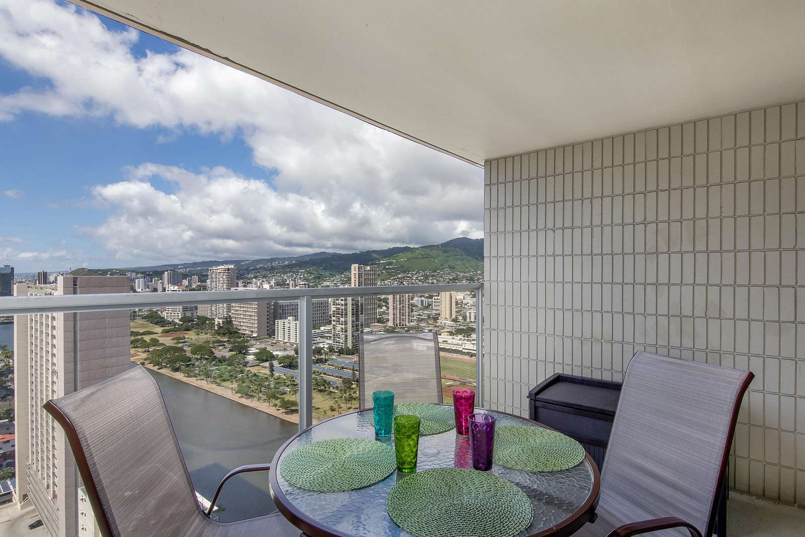 View of Ala Wai Canal From Lanai