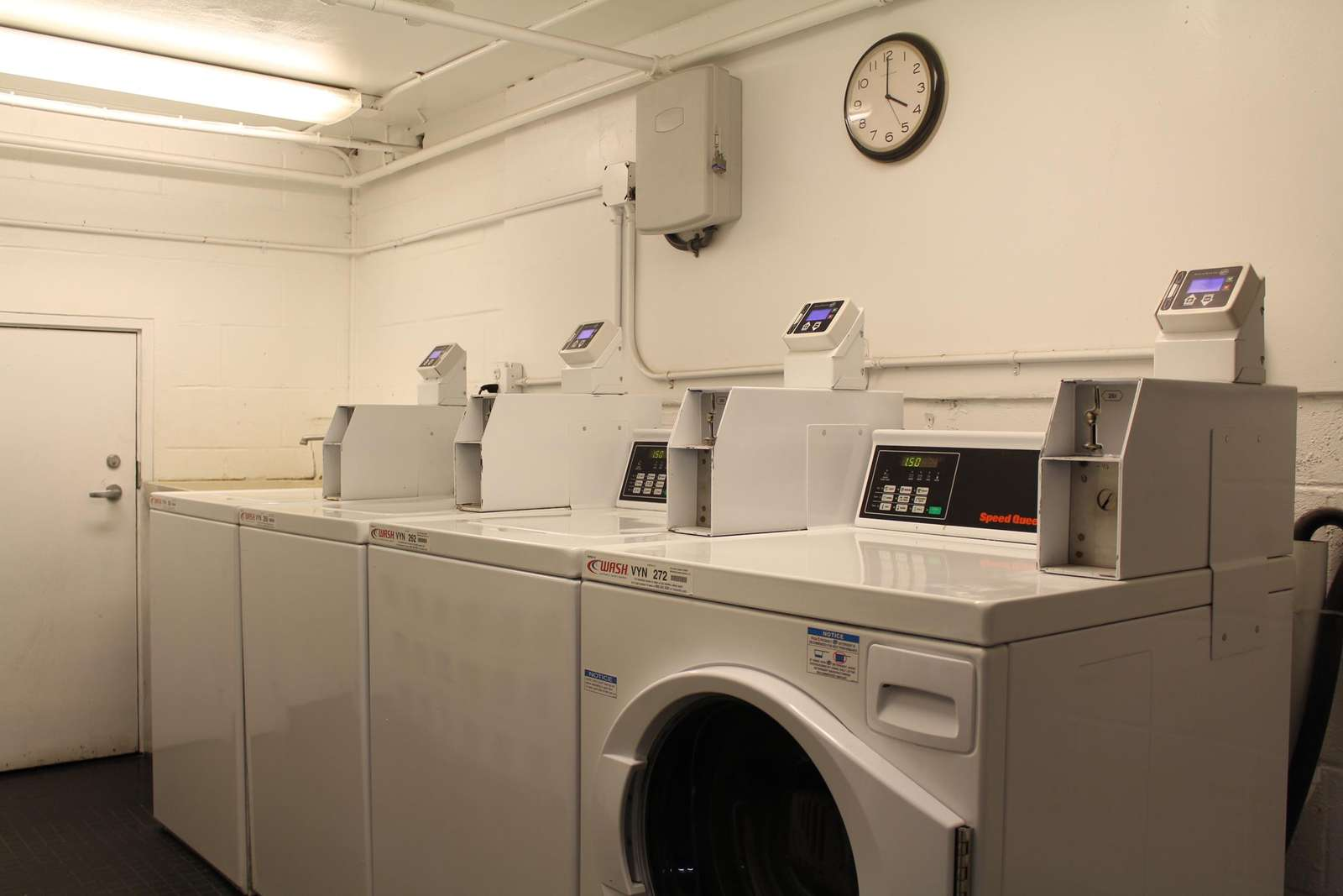 Coin and CC operated common area laundry