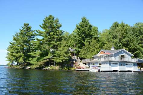 View from Water to Cottage Front
