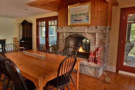 Double Sided Fireplace to Muskoka Room