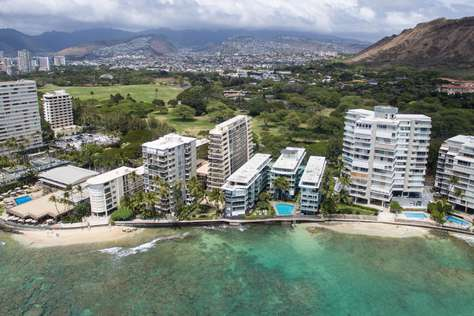 Iconic structure on Hawaii's Gold Coast.