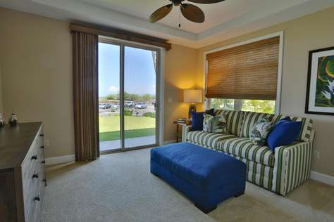 """Guest bedroom with 50"""" HD TV and Queen sofa bed"""