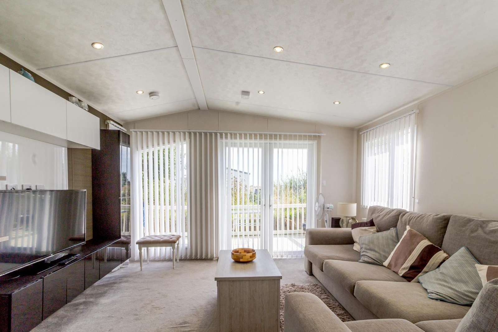Very modern feel to this spacious lounge