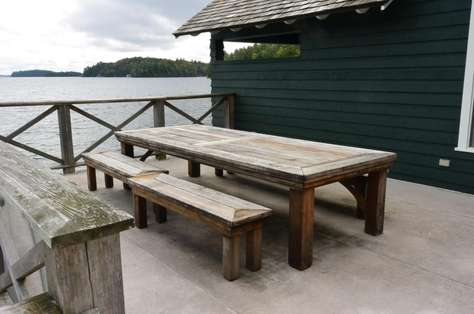 Dining Table on Boathouse Deck