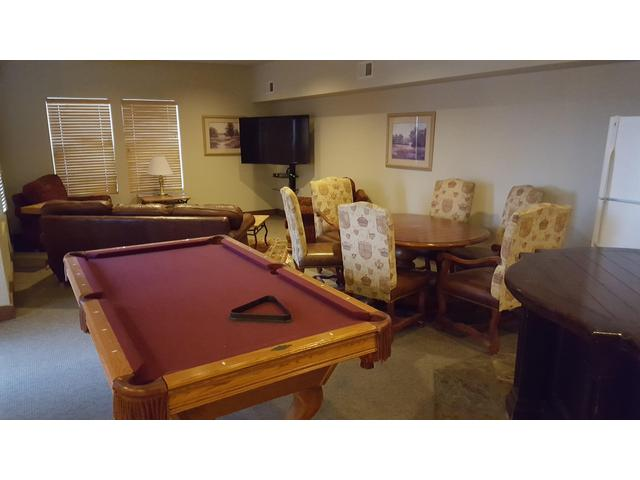 Pool table and ping pong table at clubhouse