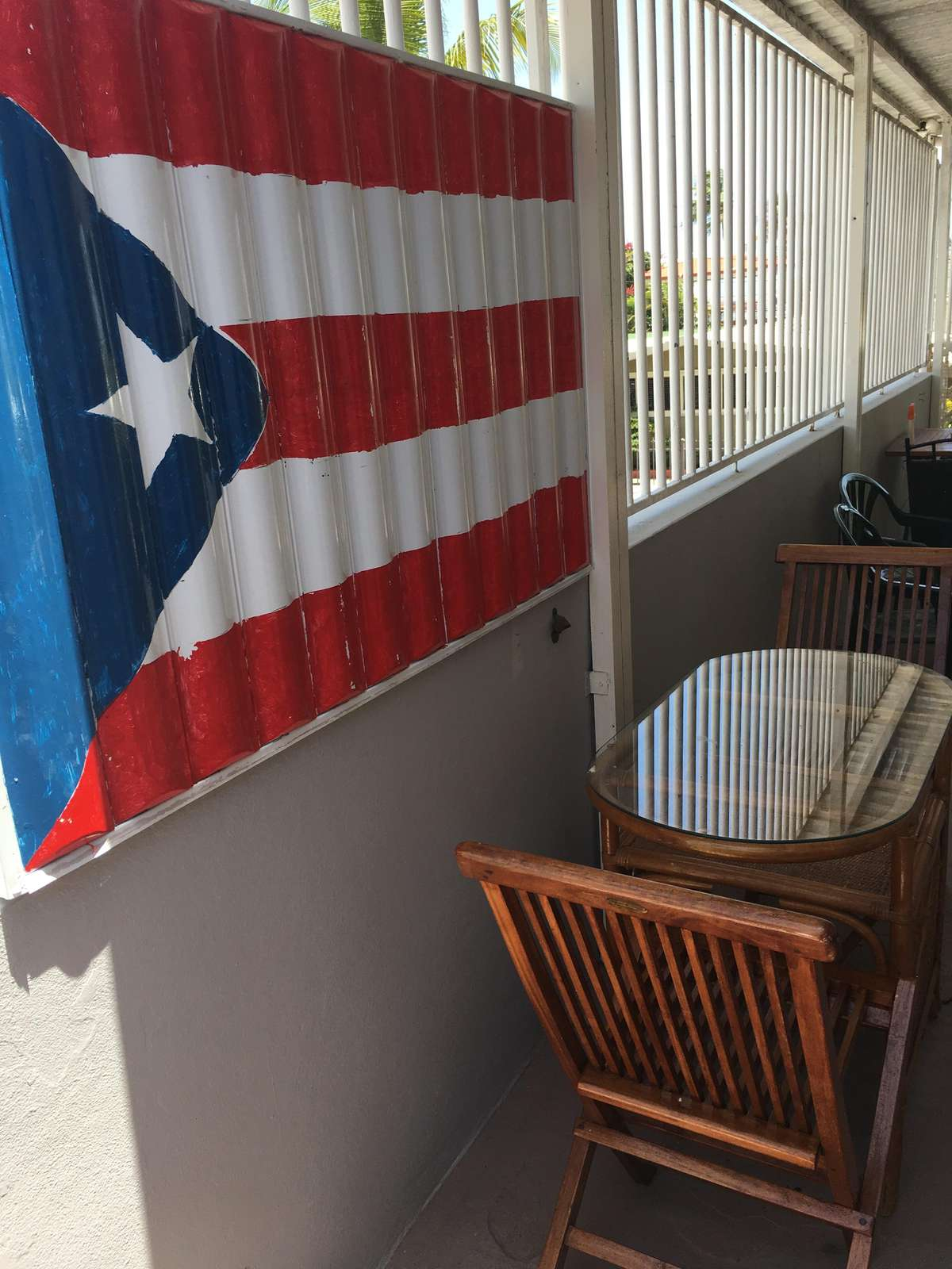 Puerto Rico flag, once outlawed, is proudly shown in so many areas in Puerto Rico