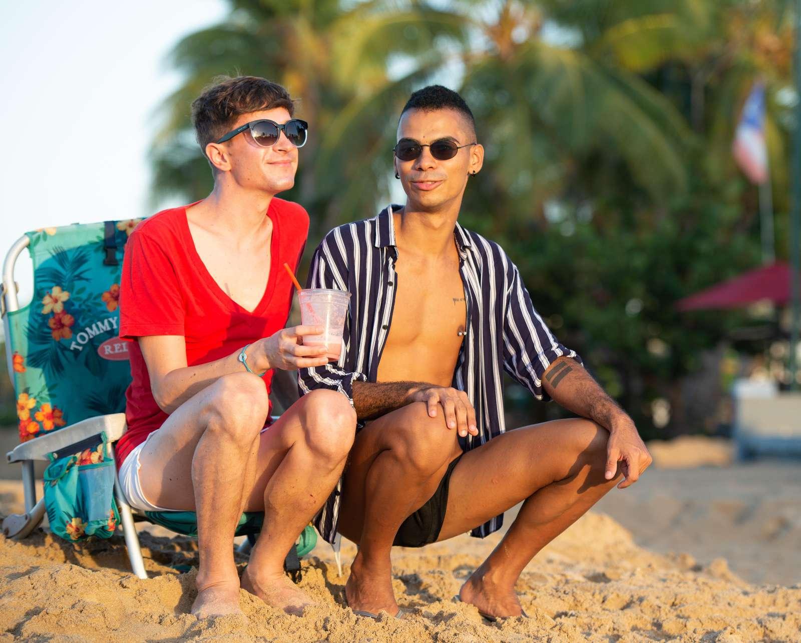 Gay friendly Ocean Park beach is a one minute walk