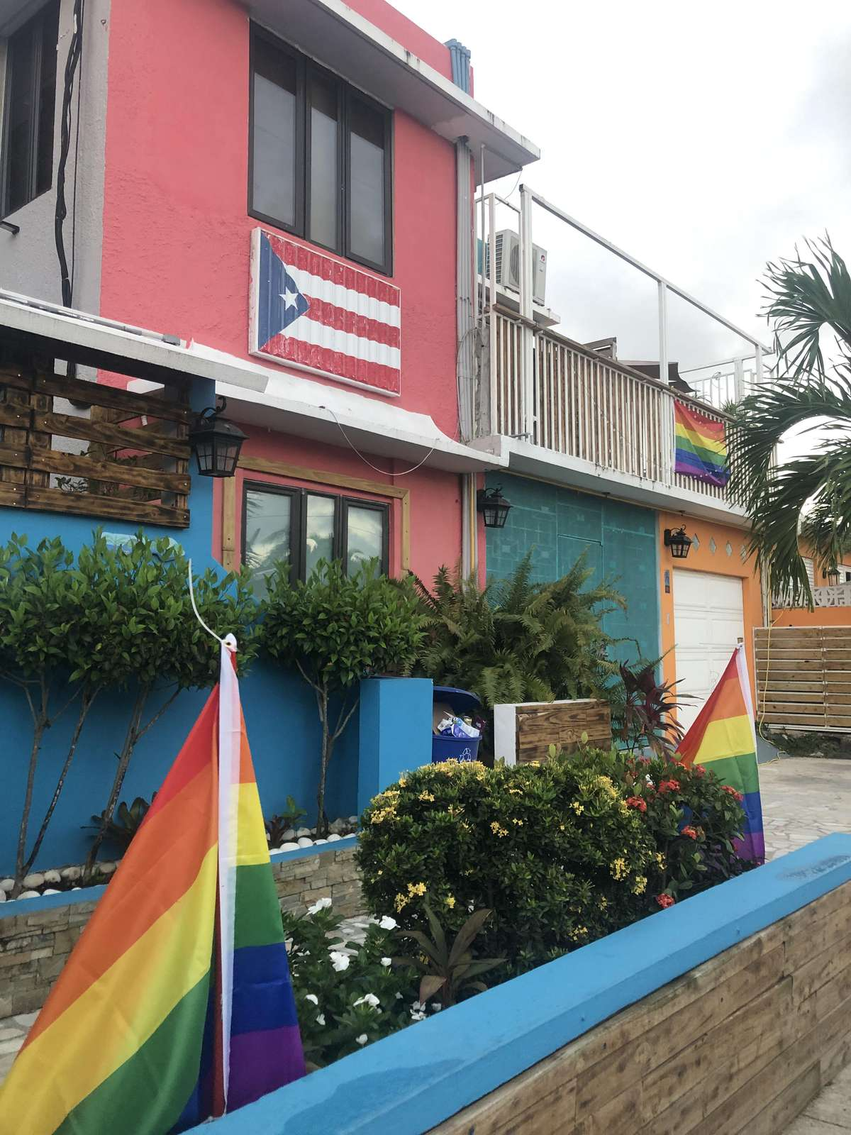 Gayest guest house in the Caribbean.  Clothing optional areas.  We are members of IGLTA, donors to GLAAD, and we organize Winter Pride Fest in Sa Juan annually