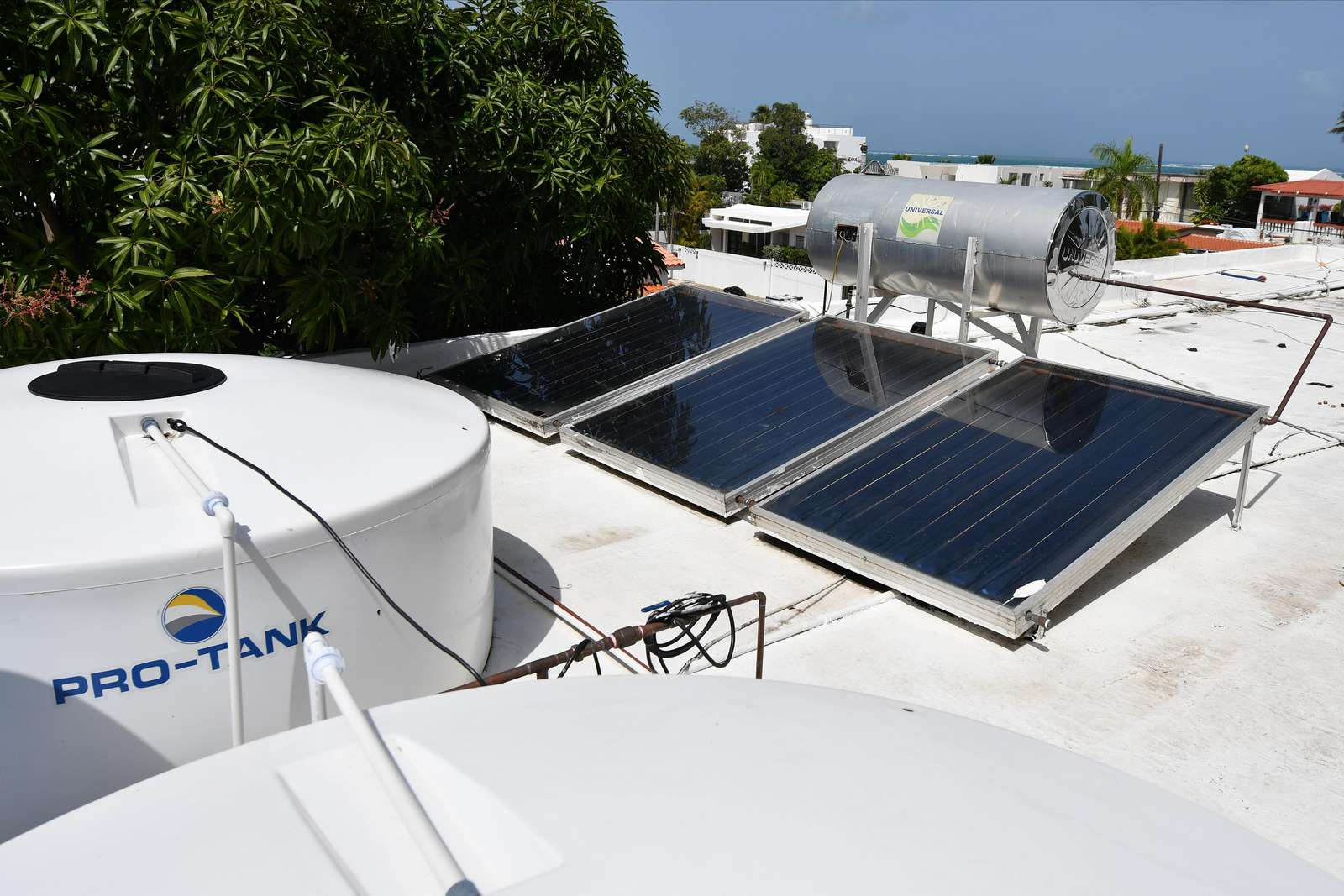 We are eco friendly in so many ways....All of our hot water is heated naturally by the Caribbean sun