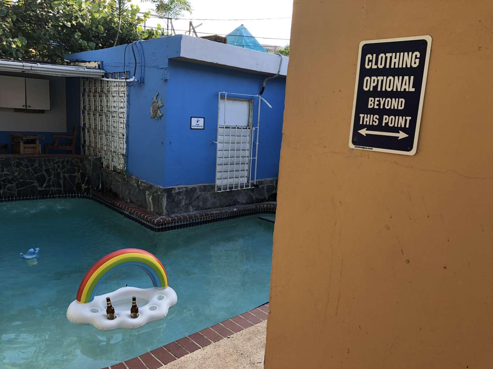 Clothing optional pool in San Juan, PR