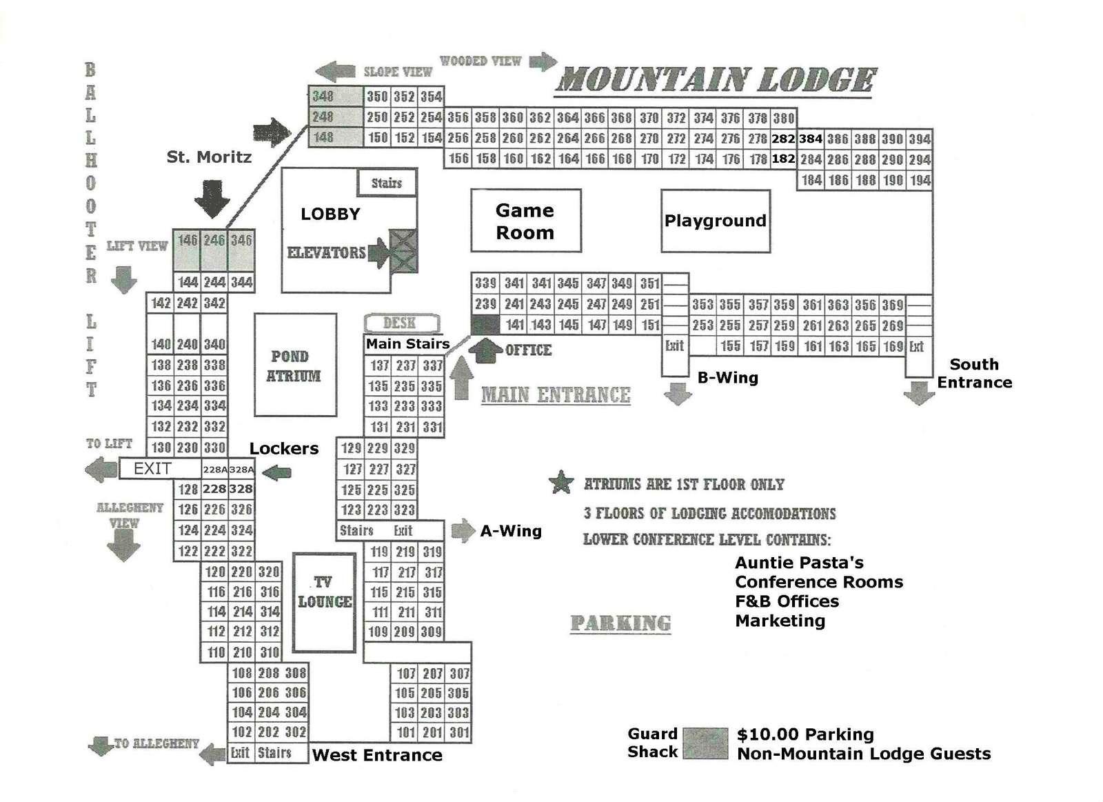 Mountain Lodge Map