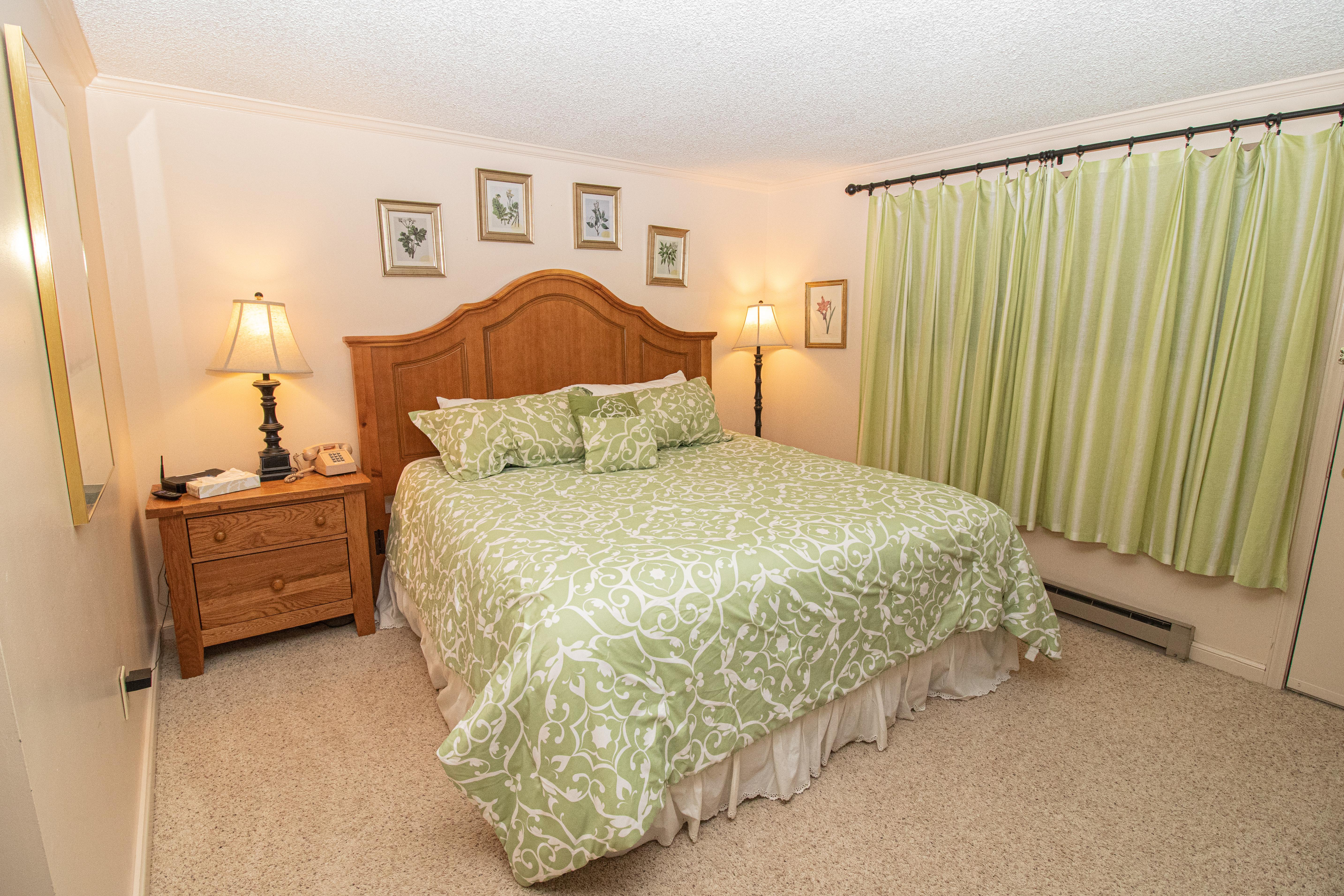 King-sized bed in master bedroom!