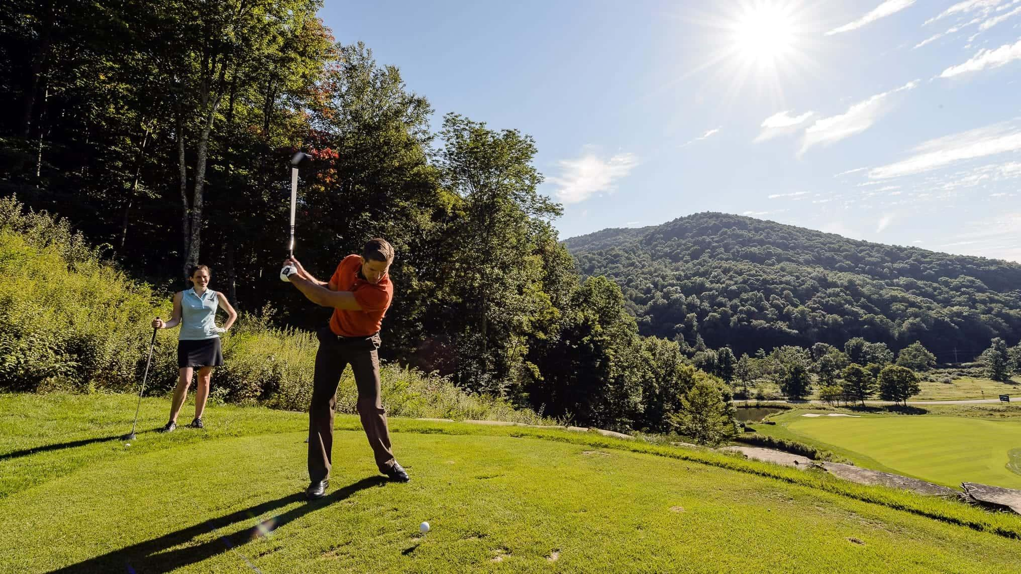 Golfing at the nearby Raven Course is a popular summertime activity!