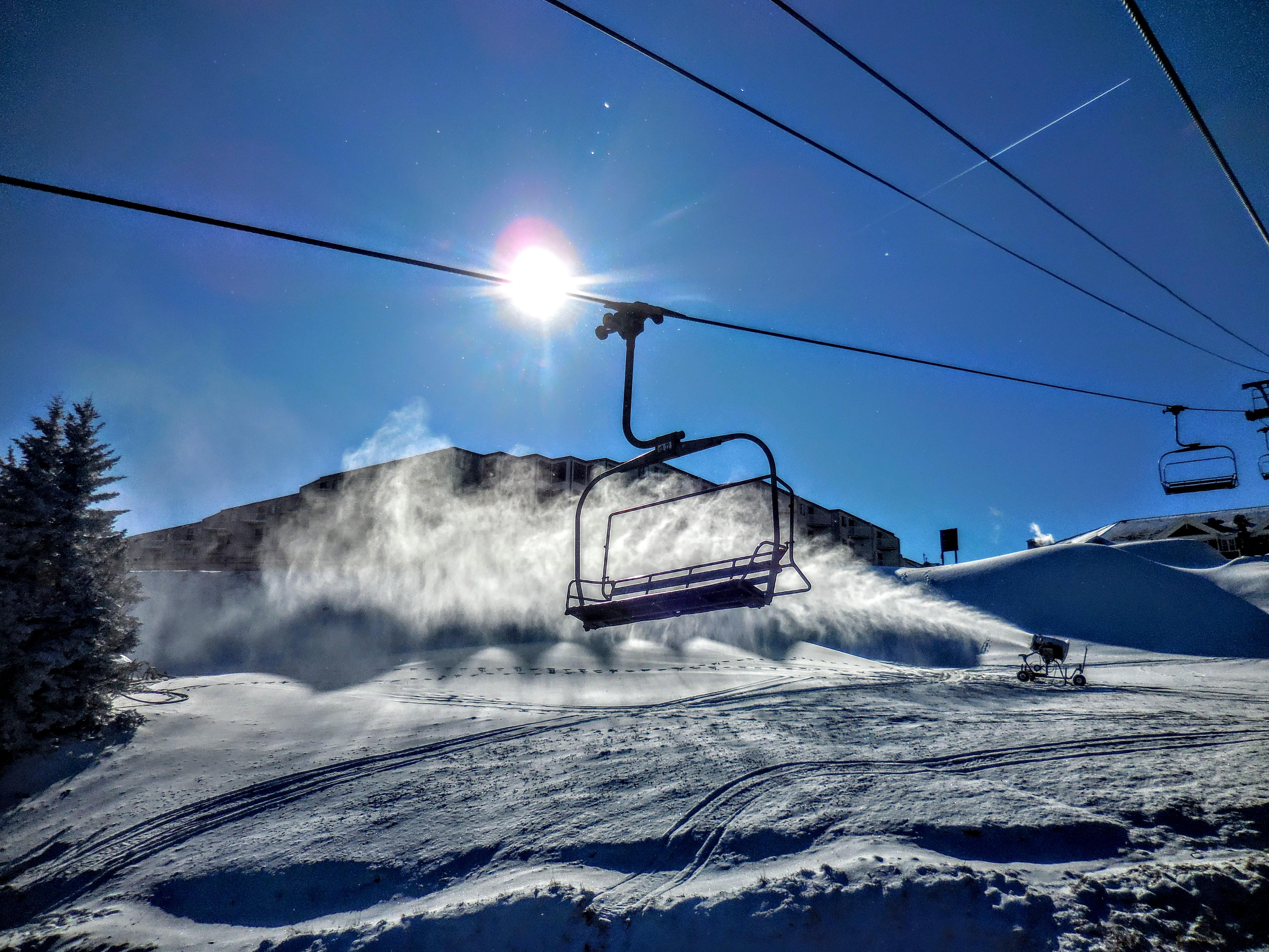 You'll be steps away from the Ballhooter high-speed quad chair lift! CLOSE to the action!