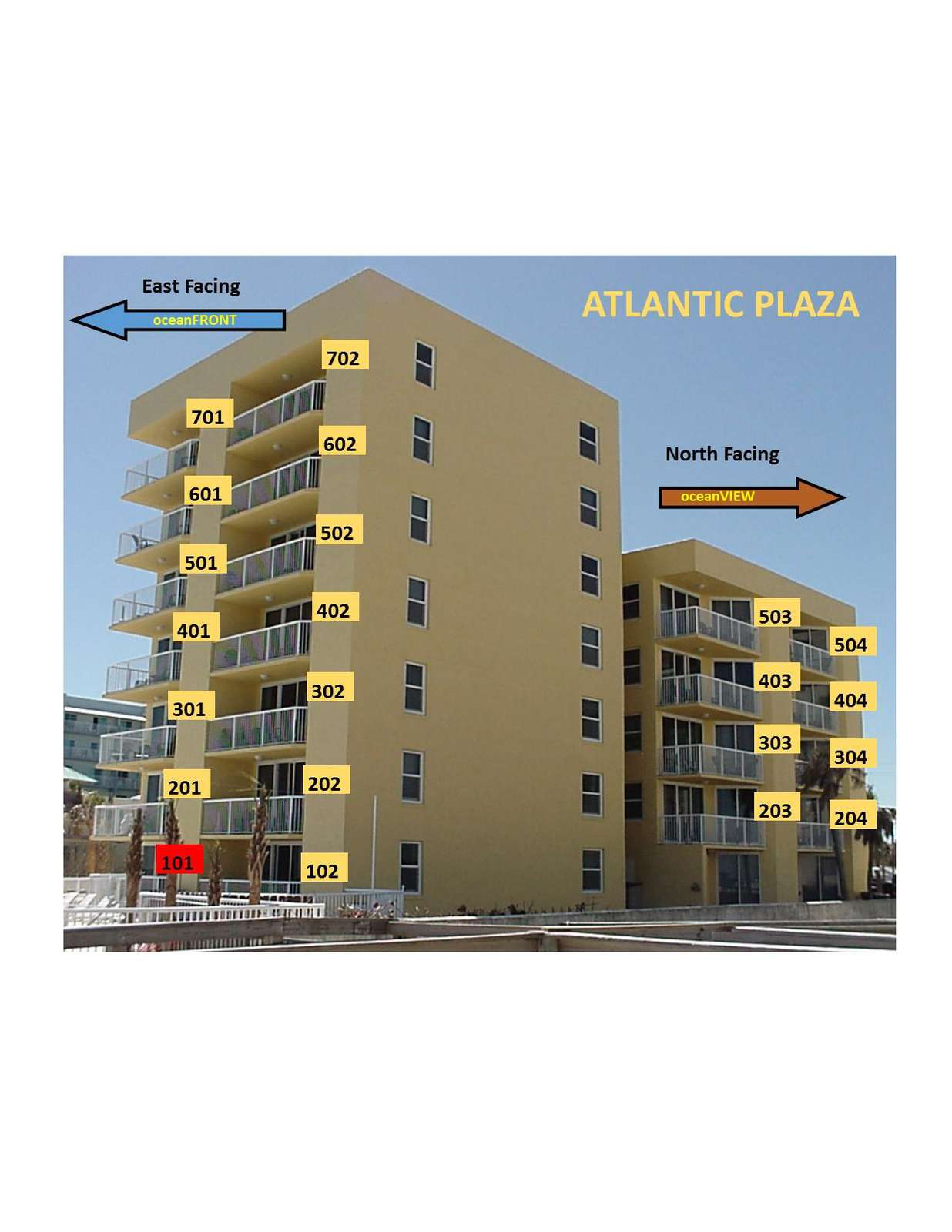 OceanFRONT Unit 101 (1st  floor)