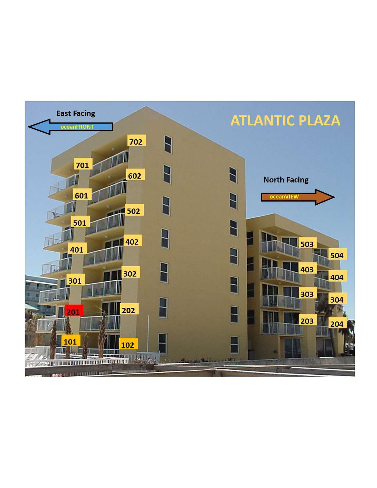 OceanFRONT unit 201 (2nd floor)