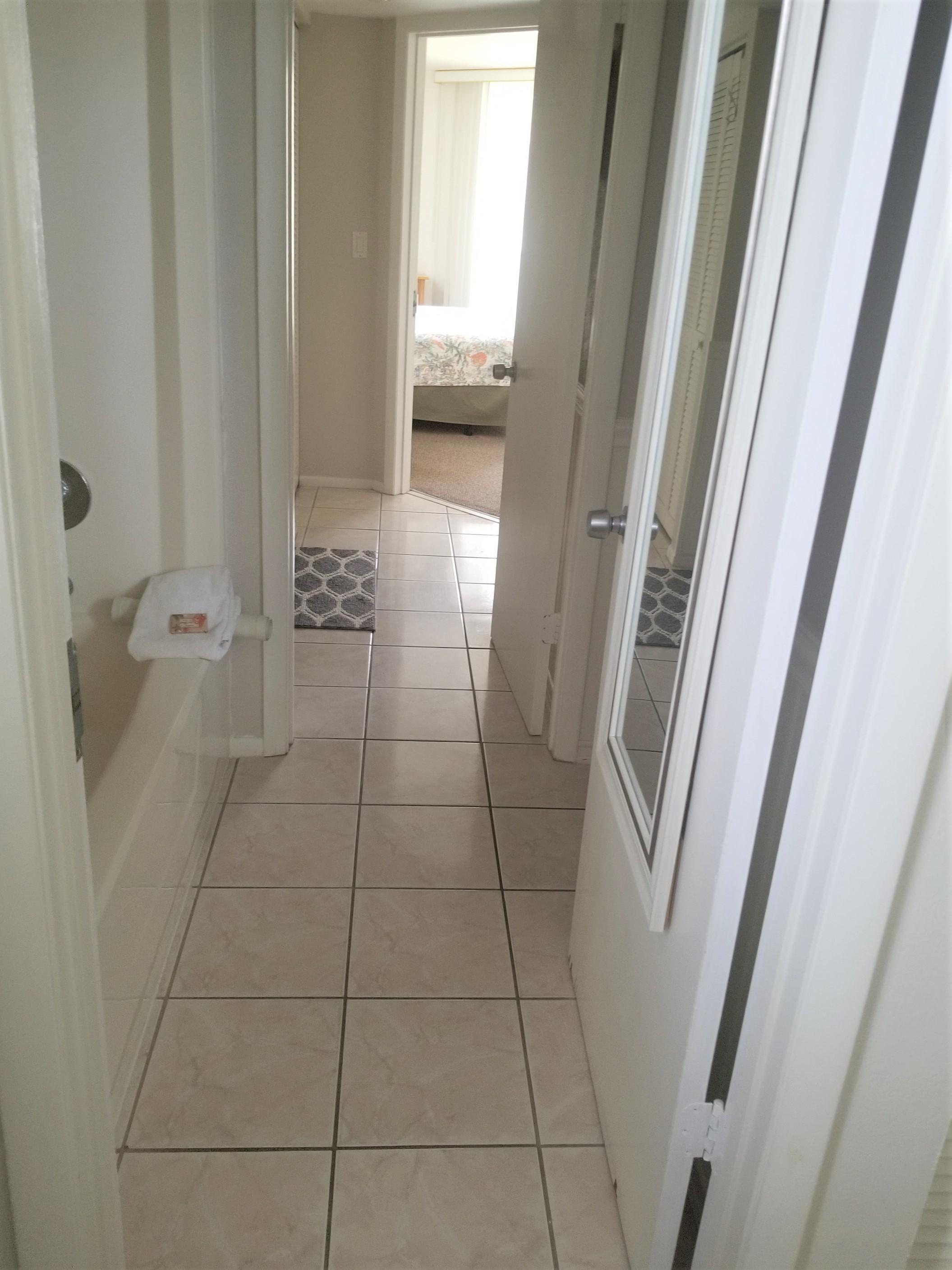 Hallway thru baths