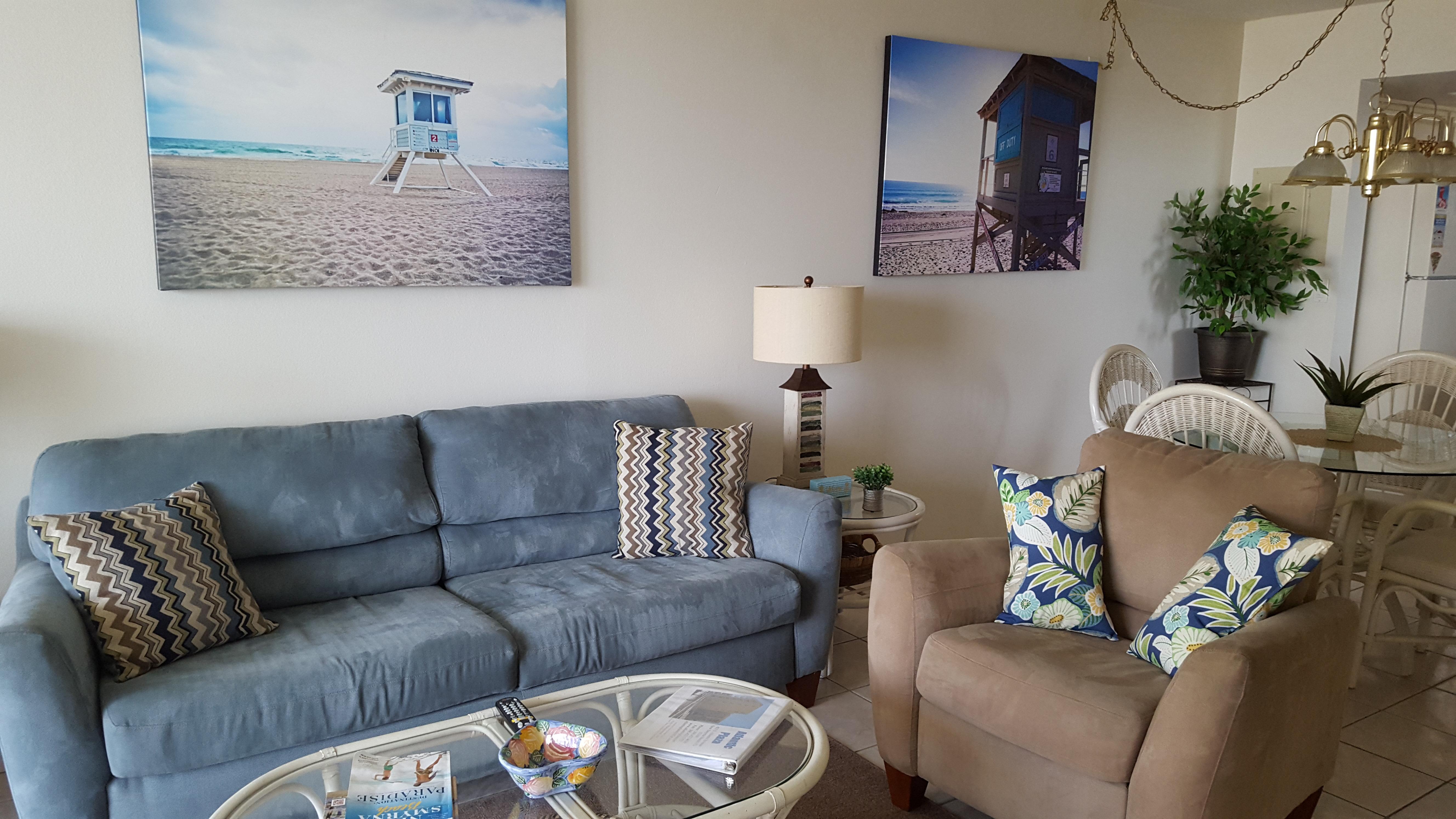 Living room center view