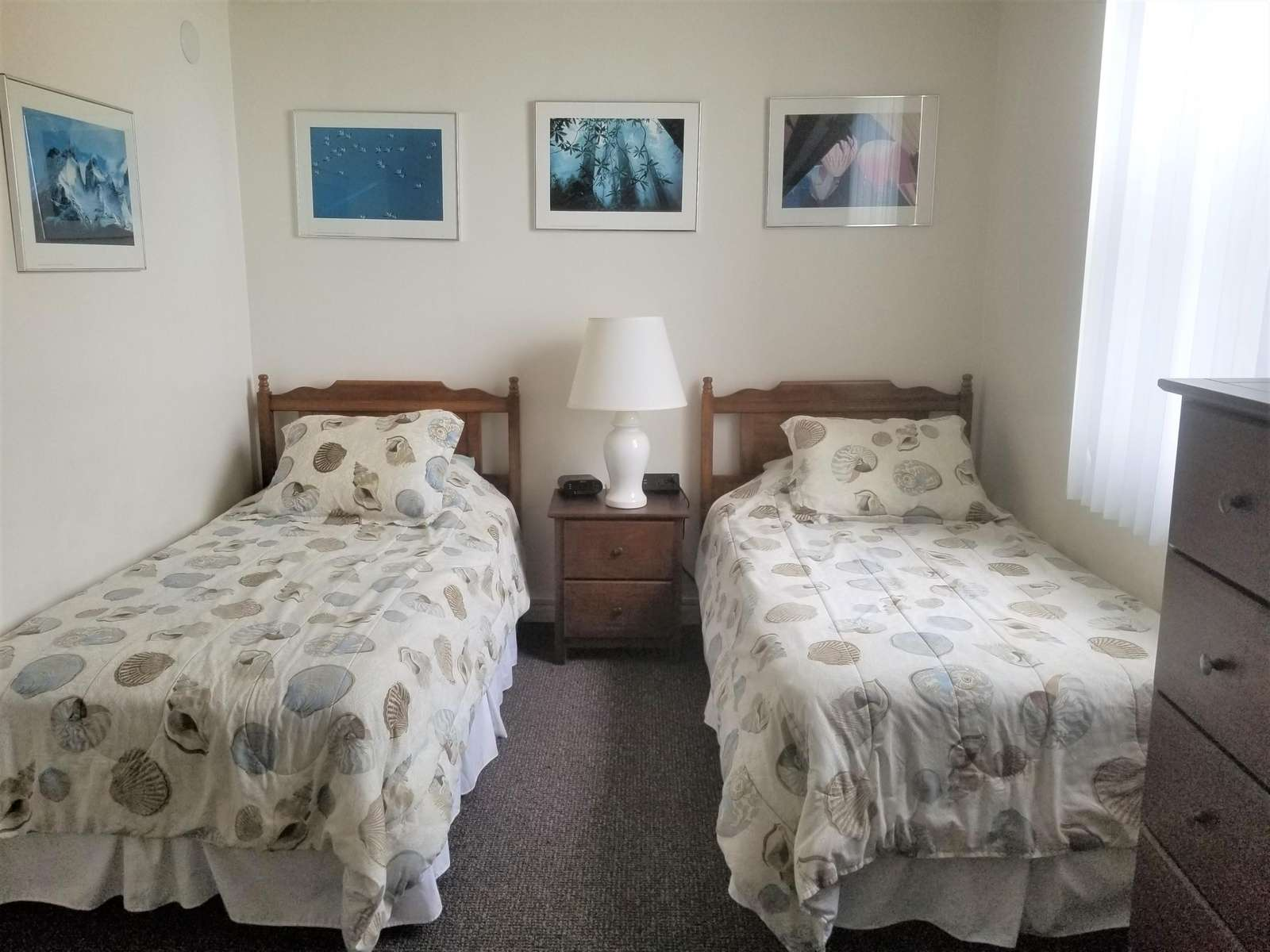 Guest bedroom from guest bath