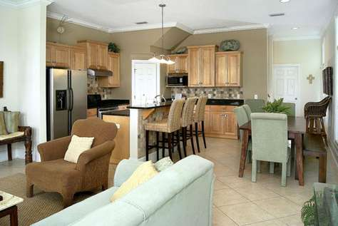 Kitchen & Dining from Living Room