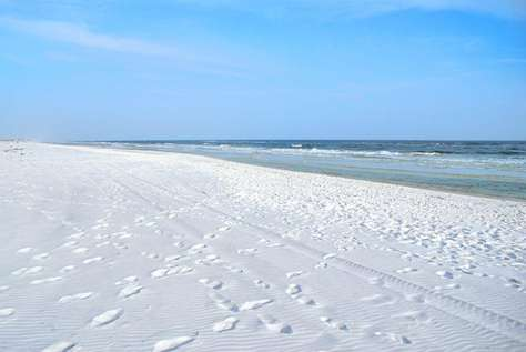 Sugary White Sand Beach directly Across from Watercolor