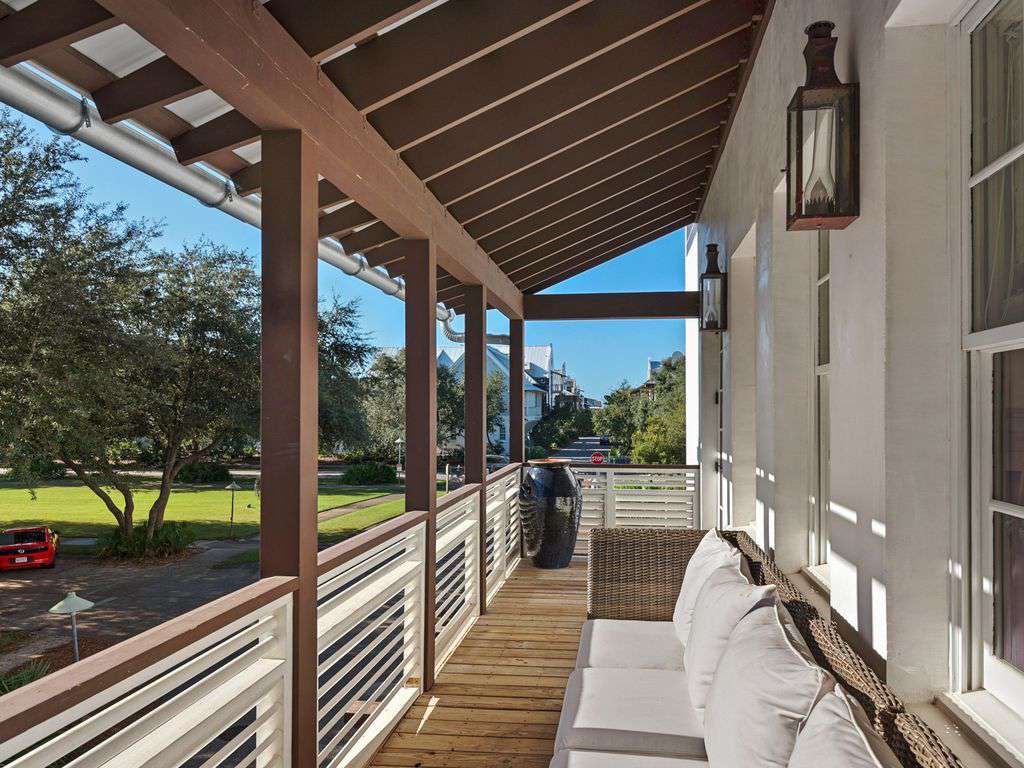 Outdoor Balcony Facing Front of Home